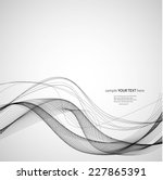 abstract black wave   Shutterstock .eps vector #227865391