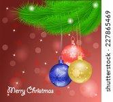 christmas balls | Shutterstock .eps vector #227865469