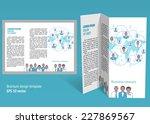 brochure  booklet z fold layout.... | Shutterstock .eps vector #227869567