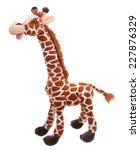 giraffe soft toy isolated on... | Shutterstock . vector #227876329