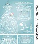 cute bridal shower invitation...   Shutterstock .eps vector #227877961
