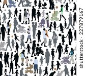 crowd of people  pattern with... | Shutterstock .eps vector #227879167