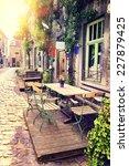 Cafe Terrace In Small European...