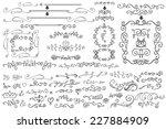 doodles border frame brushes... | Shutterstock .eps vector #227884909