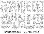 doodles border frame brushes... | Shutterstock .eps vector #227884915