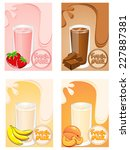 fruit milk | Shutterstock .eps vector #227887381