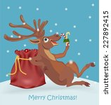 christmas deer | Shutterstock .eps vector #227892415