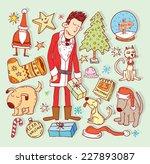 Doodle Christmas Element....