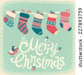 christmas card. vector... | Shutterstock .eps vector #227893759
