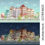 Christmas Vintage Cityscape An...