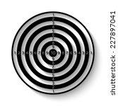 black and white dartboard icon  ... | Shutterstock .eps vector #227897041