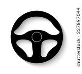 steering wheel icon   vector... | Shutterstock .eps vector #227897044