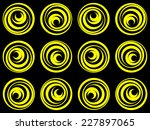 retro styled spiral circles on...   Shutterstock .eps vector #227897065