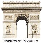 arc de triomphe  paris  france  ... | Shutterstock . vector #227901625