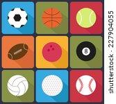 sport balls on white background.... | Shutterstock .eps vector #227904055