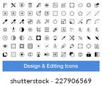 design and editing icons ... | Shutterstock .eps vector #227906569
