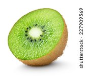 Half Of Kiwi Fruit Isolated On...