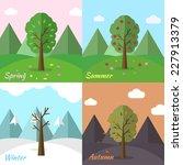 season icon set of nature tree... | Shutterstock .eps vector #227913379