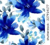 seamless wallpaper with blue... | Shutterstock .eps vector #227914177