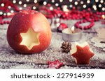 Christmas Apple With Retro...