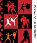 silhouette of dance | Shutterstock .eps vector #22791523