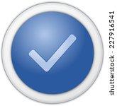 authorize button blue matte | Shutterstock . vector #227916541