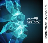 Постер, плакат: Abstract vector mesh background