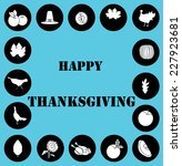 happy thanksgiving  icon set  | Shutterstock .eps vector #227923681