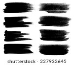 black ink vector brush strokes | Shutterstock .eps vector #227932645