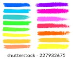 bright colors vector marker... | Shutterstock .eps vector #227932675