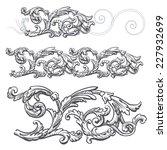 vector vintage baroque... | Shutterstock .eps vector #227932699