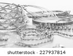 different silver jewelry on the ... | Shutterstock . vector #227937814