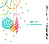 vector christmas decoration.... | Shutterstock .eps vector #227944204