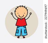 boy graphic design   vector... | Shutterstock .eps vector #227949697