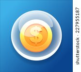 vector game icon bubble gold...