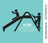 Children Having Fun With Slide...