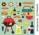 picnic icon set | Shutterstock .eps vector #227966641