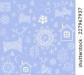 winter retro print | Shutterstock .eps vector #227967937