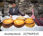 a village woman sells... | Shutterstock . vector #227969515
