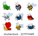 set of cartoon insects isolated ... | Shutterstock .eps vector #227974489