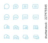 outline speech bubble icon set...