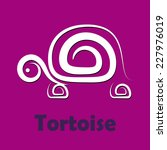 vector sign tortoise  slow... | Shutterstock .eps vector #227976019