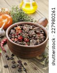 meat stew with red beans and... | Shutterstock . vector #227980261