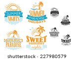 summer  travel and vacation... | Shutterstock .eps vector #227980579