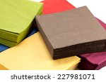 pile of colorful napkin paper | Shutterstock . vector #227981071