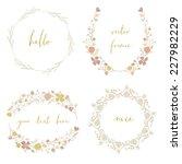 vector laurel wreaths....   Shutterstock .eps vector #227982229
