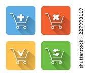 flat shopping cart icons....