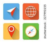 flat navigation icons. vector...