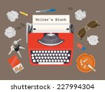 writers block   vector... | Shutterstock .eps vector #227994304