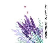 Watercolor Lavender Bouquet...